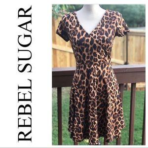 NWOT... Rebel Sugar Leopard Print Dress